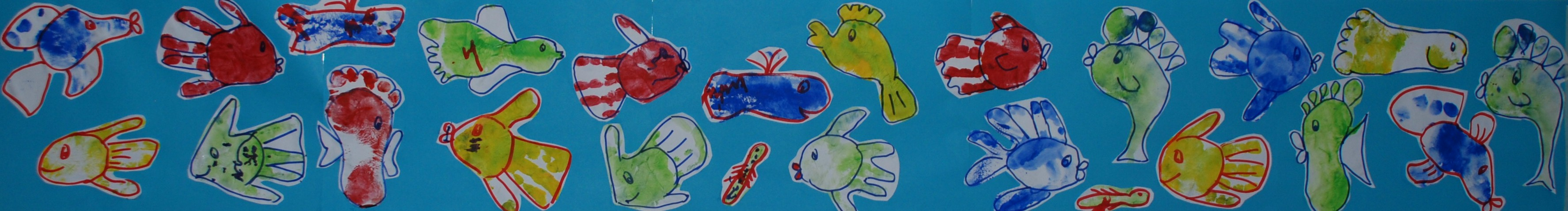 hooray for fish footprint fish for kids red ted art u0027s blog