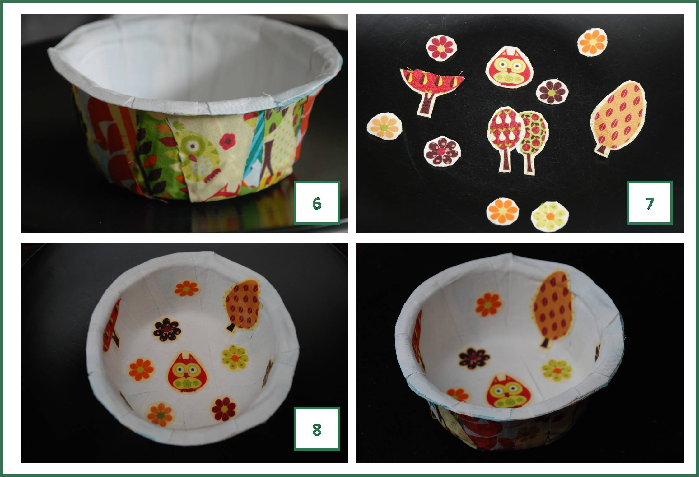 How to make a fabric m ch bowl red ted art 39 s blog for How to make a newspaper bowl