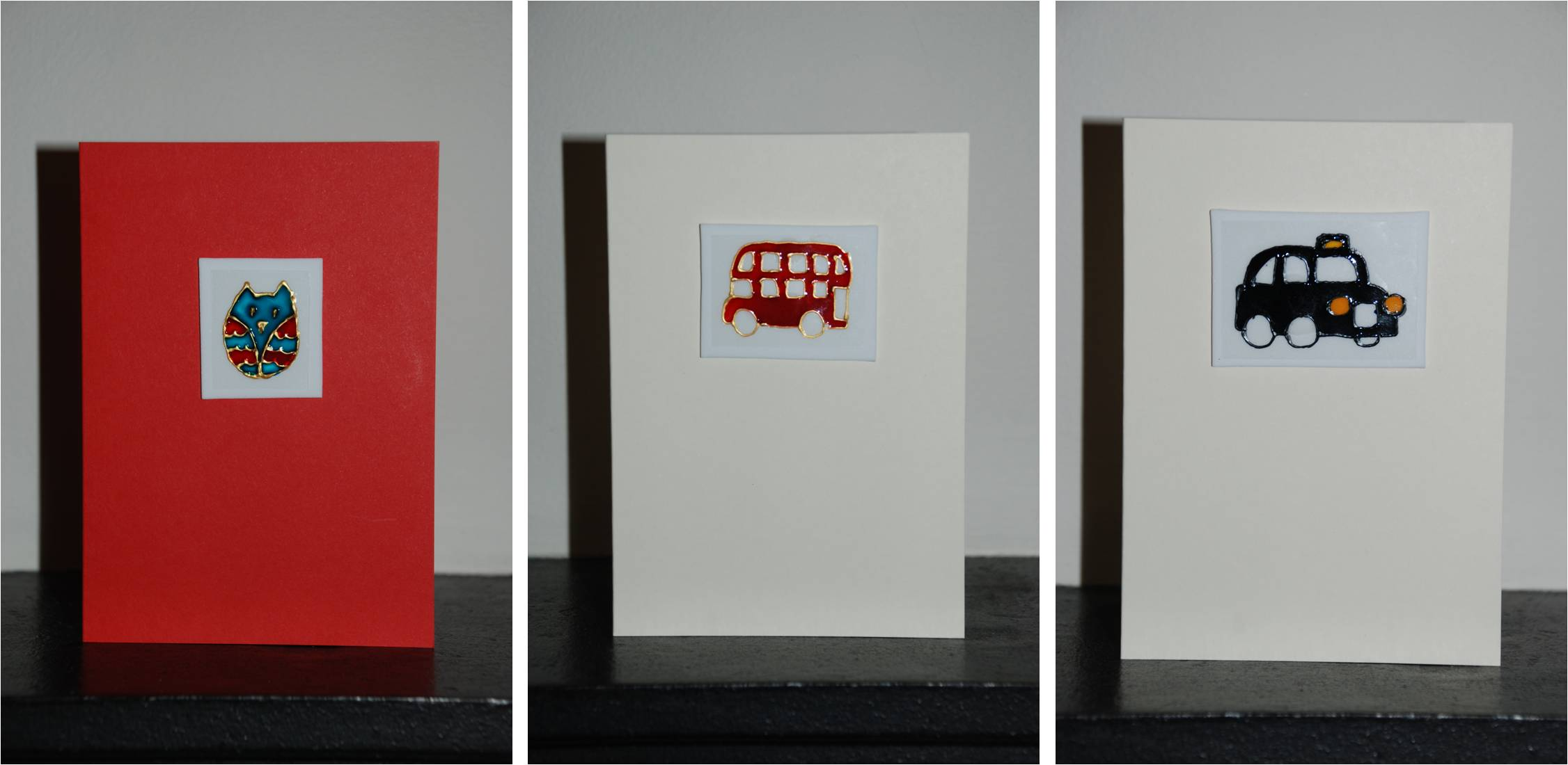 Give Away – Three handpainted greeting cards!
