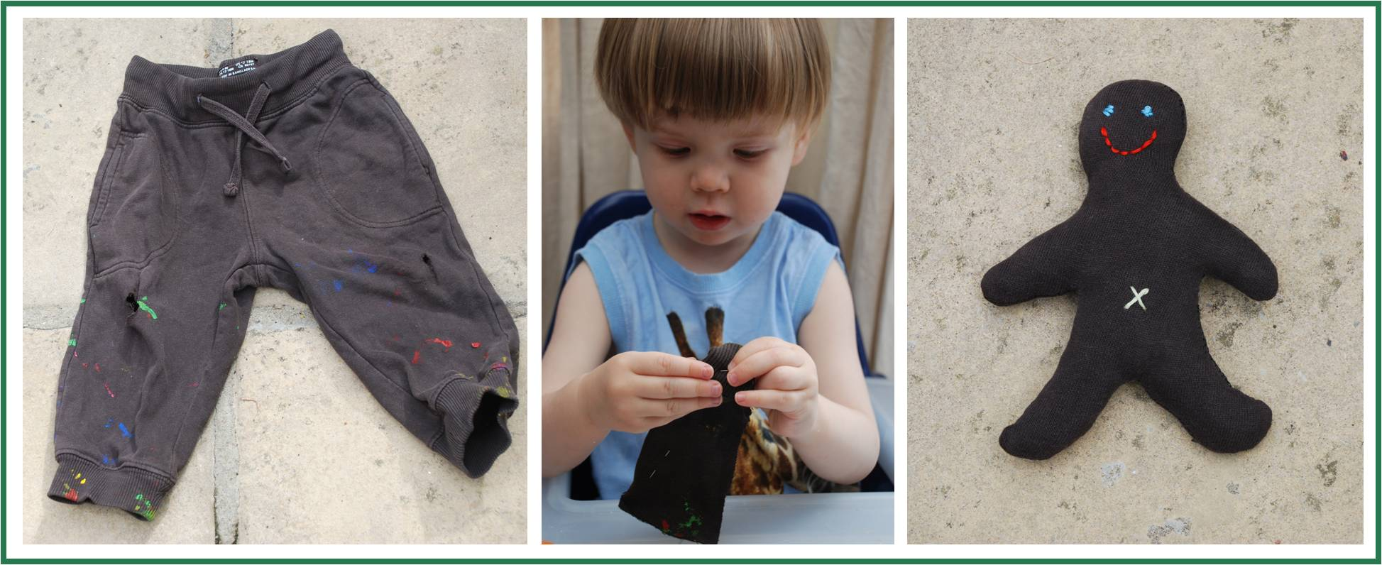Teach kids to sew early!