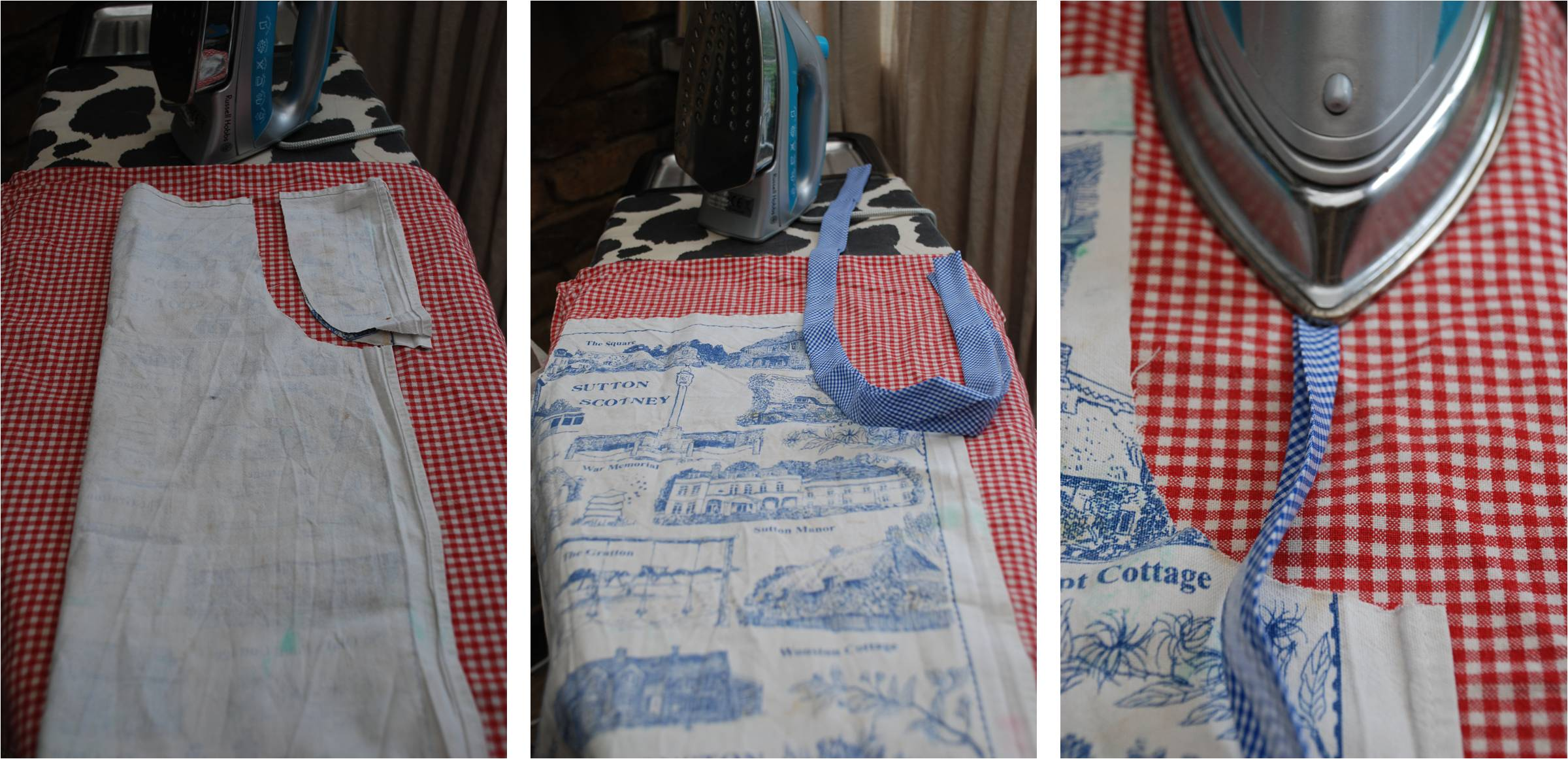 How make    a No Sew Apron (from a Tea Towel) - Red Ted Art