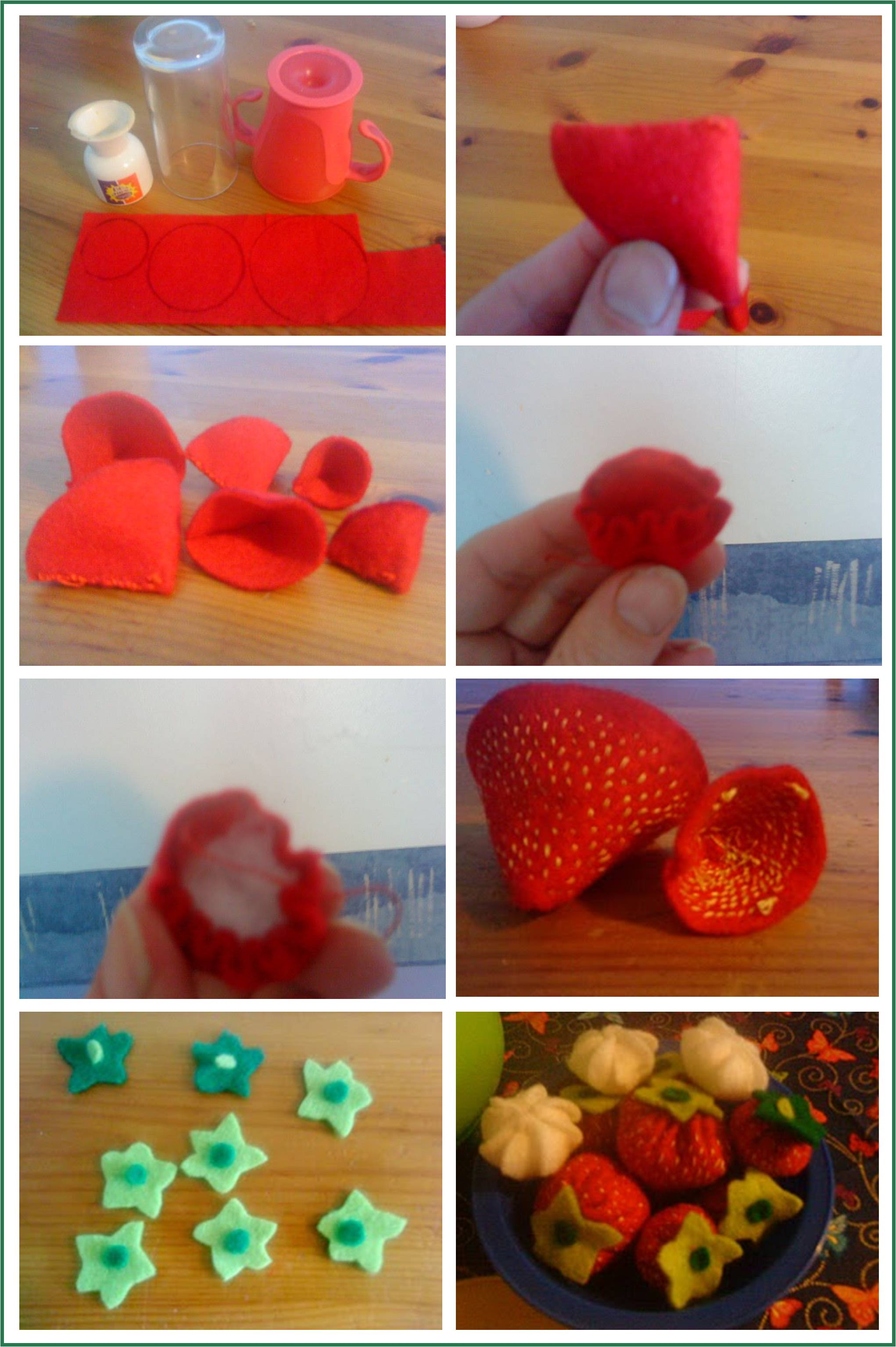 felt strawberries