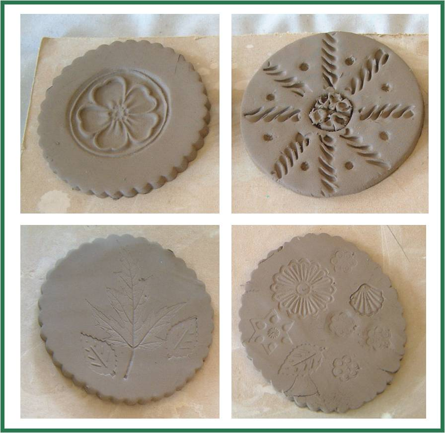 How to make clay coasters redtedart 39 s blog for Pottery designs with clay