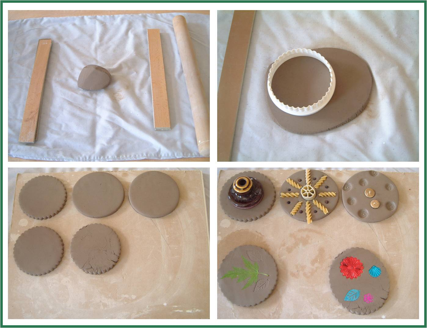 How To Make Easy Coasters Learn To Work With Clay
