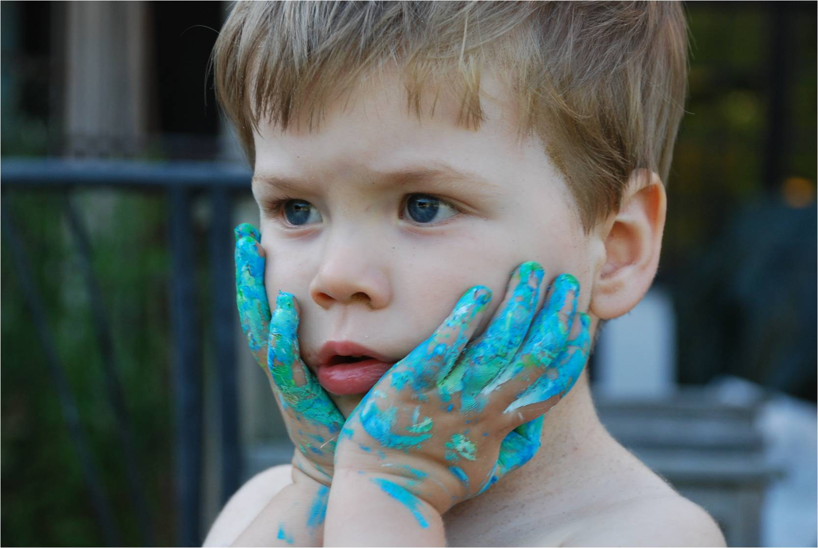 A Photo – Blue Hands